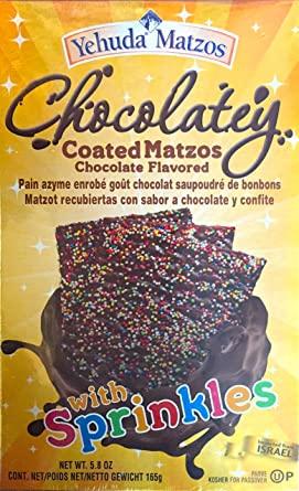 choco matzah with sprinkles